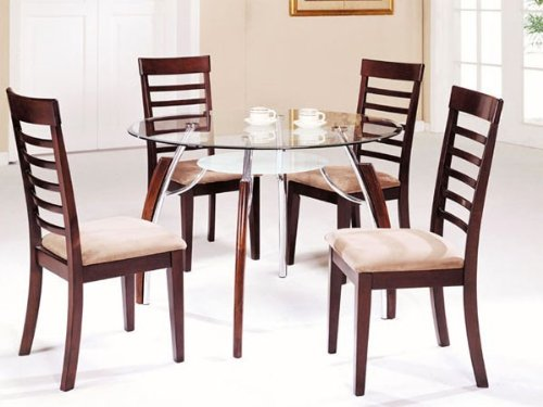 Buy Low Price Acme Furniture 5pc Dining Table Chairs Set Chrome Cherry
