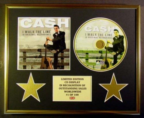 JOHNNY CASH/CD Display/Limitata Edizione/Certificato di autenticità/I WALK THE LINE