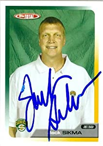 Jack Sikma Autographed Hand Signed Basketball Card (Seattle Sonics) 2006 Topps Total...
