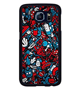 Go Yankee Pattern of Cartoon Characters Back Case Cover For Samsung galaxy s6