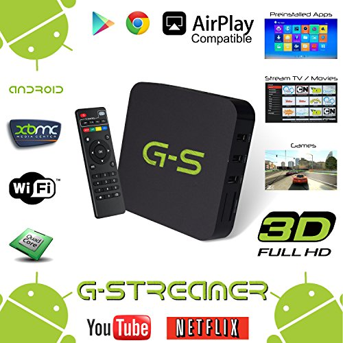 Best Price! G-Streamer MXQ QUAD Core XBMC Android 4.2 TV Box + Special Edition XBMC + FREE 6' Aurum ...