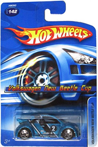 Mattel Hot Wheels 2005 1:64 Scale Teal Blue Volkswagen New beetle Cup Die Cast Car #142