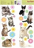 Fun Time 93976 Kittens Wall Stickers