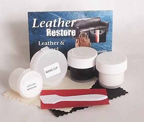 Leather Restore Air Dry Leather and Vinyl Repair Kit Fixes Rips Scratches Holes on Black White Gray Furniture Sofas Auto Seats (Faux Leather Furniture Repair Kit compare prices)