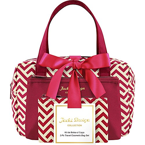 jacki-design-contour-3-piece-travel-cosmetic-bag-set-red