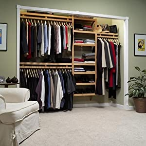 John Louis Home Standard Closet System In Maple Or Mahogany Color    Mahogany Best Price