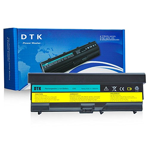 Dtk Extended Laptop Notebook Battery Replacement for LENOVO IBM Thinkpad E40 E50 0578 E420 E425 E520 E525 L410 L412 L420 L421 L510 L512 L520 Sl410 Sl510 T410 T420 T510 T520 W510 W520 10.8V 7800MAH (Lenovo Notebook Battery compare prices)