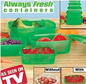 Always Fresh Green Containers 10 Piece Food Storage Container Set (Includes Lids and Containers)