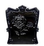 シンプルな 折りたたみ ミニミラー 鏡 (タテ10cmヨコ8.5cm/重さ73g)