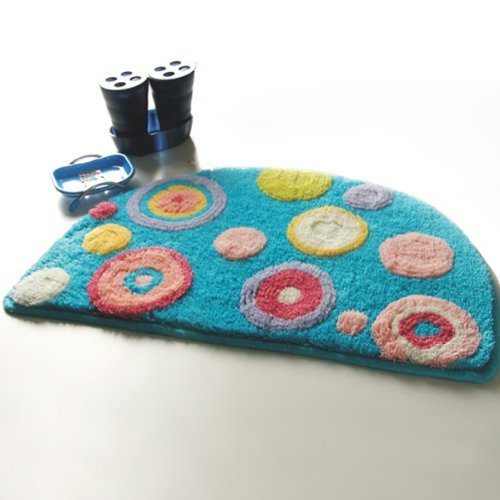Naomi - [Blue Polka Dots] Kids Room Rugs (15.7 by 24.8 inches)