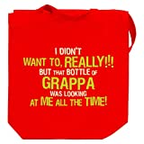 I didn't want to, really! But that bottle of Grappa Canvas Tote Bag