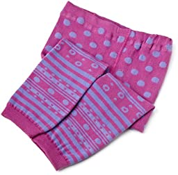 Jefferies Socks Baby-Girls Newborn Dotty Spotty Capri, Sweet Plum, 18-24 Months