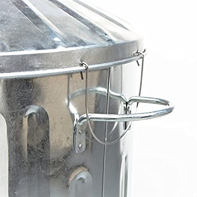 CrazyGadget® 90 Litre 90L Extra Large Galvanised Metal Incinerator Fire Burning Bin with Special Locking Lid