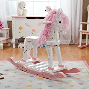 Teamson Kids Girls Rocking Horse - Princess & Frog Room Collection