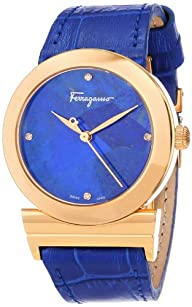 "Salvatore Ferragamo Women's FG2020013 ""Grande Maison"" Diamond-Accented Gold Ion-Plated Watch with…"