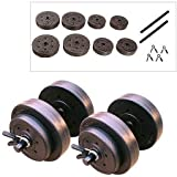 Vinyl Dumbbell Set, 40 Lbs Keep Yourself Fit and Toned with This Dumbbell Set. (Color: 40 Lbs)