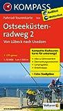 Ostseeküstenradweg 2 - von Lübeck nach Usedom: Fahrrad-Tourenkarte. GPS-genau. 1:50000.
