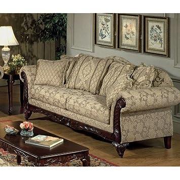 Royal Upholstered Sofa Fabric: Clarissa Carmel / Talbert / Tally Carmel