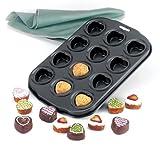 Norpro 12-Piece petite nonstick heart muffin pan