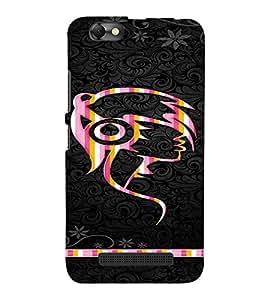PrintVisa Girly Punk Headphones Music 3D Hard Polycarbonate Designer Back Case Cover for LENOVO A2020