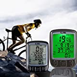 NAMEO Bike Computer, Multi Function Waterproof LCD Computer Odometer for Sport Cycle, Bicycle Speedometer, Bike Odometer Cycling Computers NAMEO