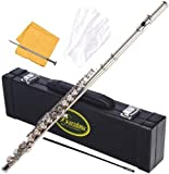 Barcelona C Flute with Case, Cleaning Rod, Gloves and Polishing Cloth - Nickel