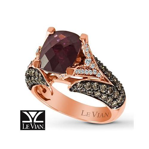 Amazon.com: Kay Jewelers Le Vian Garnet Ring 1 1/6 ct tw Diamonds 14K