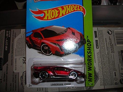 2015 Hot Wheels Hw Workshop - Lamborghini Veneno (Red) - 1