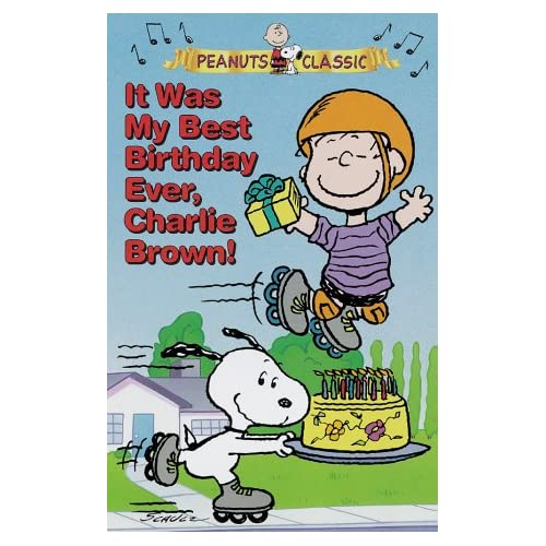 Amazon.com: It Was My Best Birthday Ever, Charlie Brown! (Peanuts