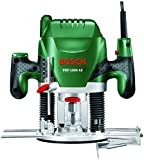 Bosch POF 1200 AE HomeSeries Oberfräse + Nutfräser (Ø 8 mm) + Absaugadapter (1.200 W, max. 28.000 1/min)