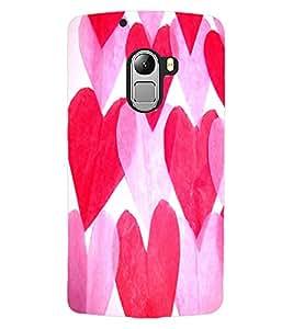 ColourCraft Love Hearts Design Back Case Cover for LENOVO A7010
