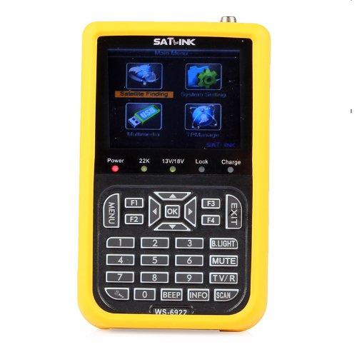 SATlink WS-6922 HD Digital Satellite Finder Meter 3.5 - Inch DVB-SandDVB-S2 Signal