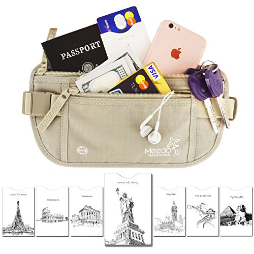 Maxgear(TM)RFID Blocking Wallet Travel Money Belt Hidden Waist Stash Waist Pack for Travel Secure Wallet Save Travel wallet for Women and Men Khaki (39 Inch Men Khakis compare prices)