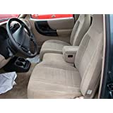 Durafit Seat Covers, F159-W8-Ford Ranger and Explorer High Back 60/40 Split Bench with Opening Console Seat Covers in Graphite Velour