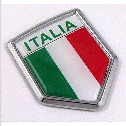 Italia Italy Italian Flag Car Chrome Emblem Decal 3d Sticker (Productos Car Wash compare prices)