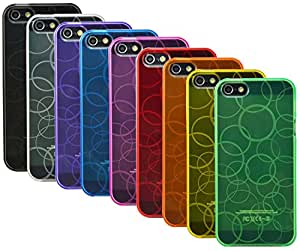 The Friendly Swede Basics - Bundle of 9 Bubble Design TPU Gel Cases + 1 Microfiber Cloth for Apple iPhone 5 5S