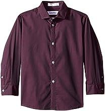 Calvin Klein Little Boys39 Long-Sleeve Iridescent-Stripe Shirt