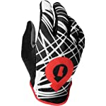 SixSixOne Rev Wired Adult All-Terrain Bicycle MTB Gloves - Black/Red / Large