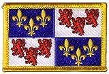 Écusson brodé Flag Patch France Picardie - 8 x 6 cm...
