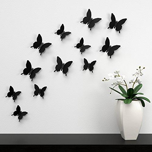 3dtrends-farfalle-colorate-da-incollare-sul-muro-rimovibili-12-pezzi-nero