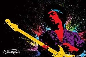 1art1 49087 Jimi Hendrix - Gitarre, Psychedelisch Poster (91 x 61 cm)