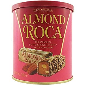 Brown & Haley Almond Roca Round Tin 7OZ (200g): Amazon.co.uk: Kitchen ...