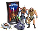 MASTERS OF THE UNIVERSE HE-MAN WOLF ARMOR,SKELETOR SNAKE ARMOR AND VIDEO