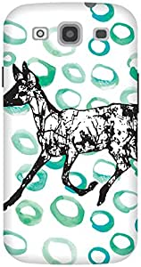 The Racoon Lean Running in Circles hard plastic printed back case / cover for Samsung Galaxy S3