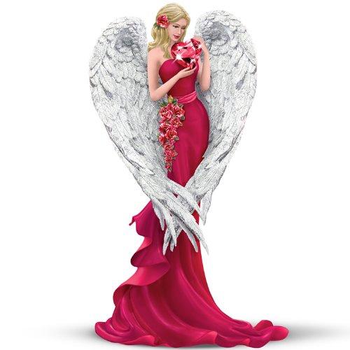 Thomas Kinkade Angel Figurine: Heart Of Love by The Hamilton Collection