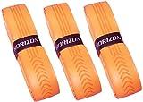 【HORIZON ホライズン】3本セット バット用 極上の握り心地 ウェットグリップテープ オレンジ ソフトボール