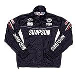 シンプソン(SIMPSON) バイク用レインスーツ レインジャケット セパレート ブラック LL SRS-6191