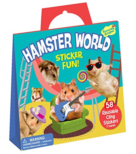 Peaceable Kingdom Sticker Fun! Hamster World Reusable Sticker Tote