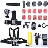 Go Pro Accessory 28 Kit Ultimate Combo Kit Set For GoPro HERO 4 GoPro HERO3+ GoPro HERO3 GoPro HERO2 And GoPro HERO Cameras (Bicycle Car Helmet Wrist 360 Rotation Selfie Kit)