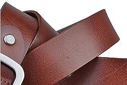Blueblue Sky Vintage Leather Retro Men's Square Buckle Belts#ip2014007 (45 in, Brown)